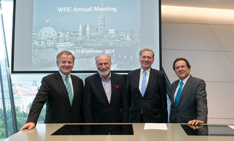 Speakers at the WFI Annual Meeting in Vienna, Austria
